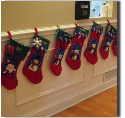 Stockings for everyone at the office!