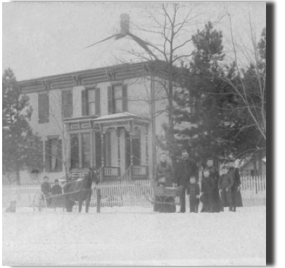 The office building in the 1880s.  Was a single family home owned by the Humbracht family.